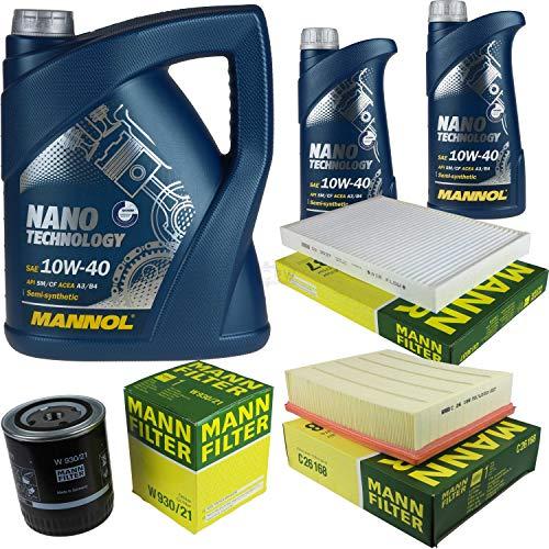 Mannol 7L Nano Technology 10W-40 Aceite de motor + filtro para Audi A6 4B C5 2.4