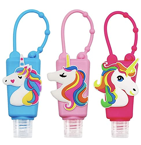 Taufa Factory Unicorn Hand Sanitizer, Small Sanitizer Bottles for Kids Portable Refillable- Pack of 1