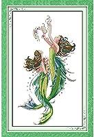 クロスステッチキット,DIY 手工刺绣套件アート11CT印刷十字绣 パターン スタンプ刺繍スターターキット,かわいい女の子,家庭刺繍装飾品,手作りホリデーギフト-16×20インチ