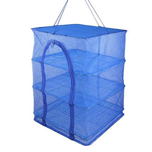 1yess Visnet droogrek, meerlagige versterkte anti-mug vouwen outdoor opknoping voedsel droog opslag rek, verkrijgbaar in 2 maten landing netten voor vissen (Maat: 50x50x100cm)