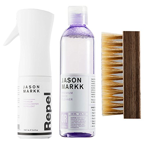 Jason Markk Unisex Premium Cleaner, Repel Spray and Shoe Brush (Combo) White