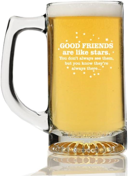 Financial sales San Jose Mall sale Good Friends are Like Stars Glass Beer Mug Engraved