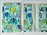 Windeltasche Wickeltasche | Elefanten bunt grün blau türkis | unisex Junge Mädchen | Geburtsgeschenk Mamageschenk)