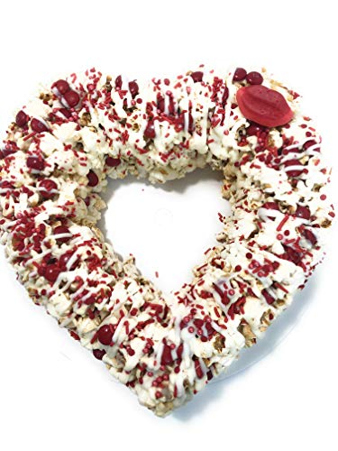 New Popilicious Gourmet Popcorn Cake Valentine's Day Heart Shaped Anniversary Marshmallow Treat Glut...