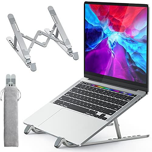 APMIEK Supporto PC Portatile Alluminio 7 Livelli Regolabile Porta Notebook, Raffreddamento Pieghevole Supporto Laptop per MacBook Air/PRO, Dell, XPS, HP, Lenovo Computer Portatili e Tablet