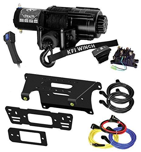Amazing Deal KFI Combo Kit – SE45-R2 4500lbs Winch & Mount Bracket – compatible with 2014-2018 Polaris 900 Ranger Crew 4×4