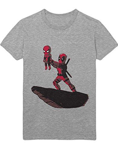 T-Shirt Superheroes Wade Wilson Lion Parody C138915 Grau S