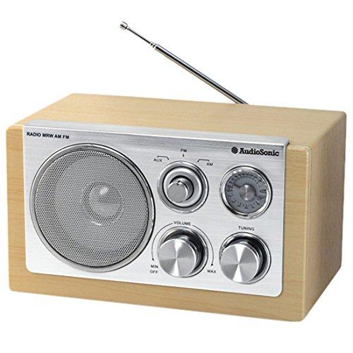 Smartwares RD-1540 – Radio retro, radio FM, entrada auxiliar, 5W