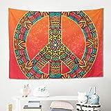 Gamoii Paz Amor Farbverlauf Rojo Wandgehang Wandteppich Tapestries Picnic Beach Sheet Strandtuch Meditation Yoga Mats Hochwertigem Home Decor Sofabezug, poliéster, Blanco, 200x150cm