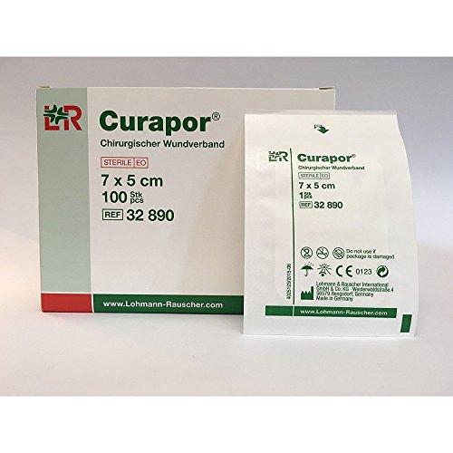 CURAPOR Wundverband 7 x 5 cm steril, 100 Stück