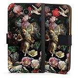 Étui Compatible avec Huawei Y6 II Compact Étui Folio Étui magnétique Peinture Eglise Fleur