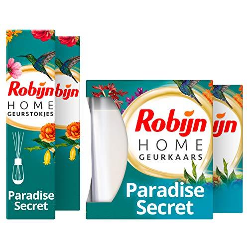 Robijn Paradise Secret Geurpakket - Geurstokjes en Geurkaars