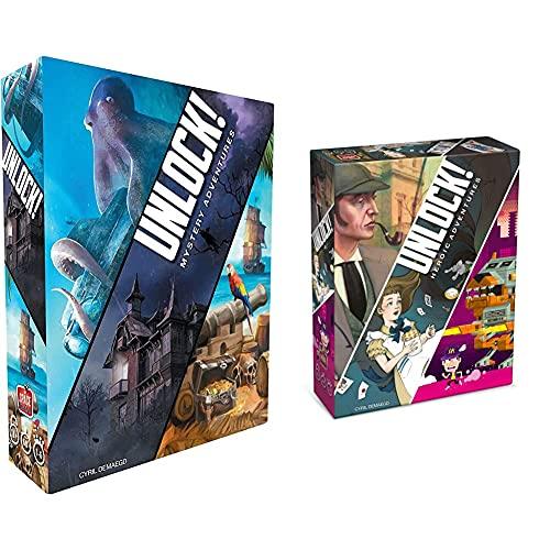 Asmodee Unlock Mystery Adventures Gioco Da Tavolo Edizione In Italiano, Multicolore & Unlock Heroic Adventures Gioco Da Tavolo Edizione In Italiano, Multicolore, 8984