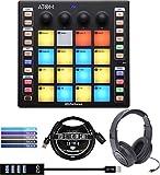 PreSonus ATOM Music Production Controller Bundle with SR350 Stereo Headphones, Blucoil Mini USB...