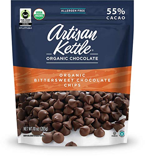 Artisan Kettle Morsels Organic Bittersweet Chocolate, , 10 Ounce (Pack of 1)