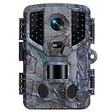TOMSHOO Caméra de Chasse 16MP 1080P avec Vision Nocturne Infrarouge et capteur de Mouvement, portée 20m, IP66 Spray étanche, pour Sentier de la Faune, la Surveillance de la sécurité de la Maison
