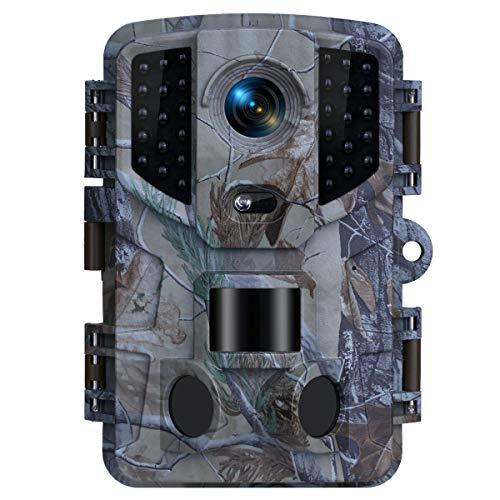 TOMSHOO Wildkamera 16MP 1080P Infrarot-Nachtsicht 20m Jagdkamera mit Infrarot Low- Glow LEDs IP66 Wasserdicht Wildtierkamera für Outdoor-Natur, Garten, Haussicherheitsüberwachung