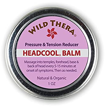 Wild Thera Herbal Migraine Headache Relief Balm with Essential Oils Sinus Tension Headache Soother Safely use with Headache roll on Magnesium Eye mask and migraine Relief Stick.