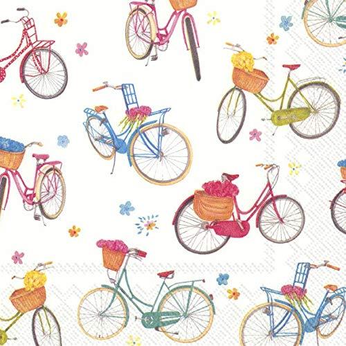 IHR BICYCLE Fiets Luncheon Papier Tafelservetten 20 in een verpakking 33cm vierkant