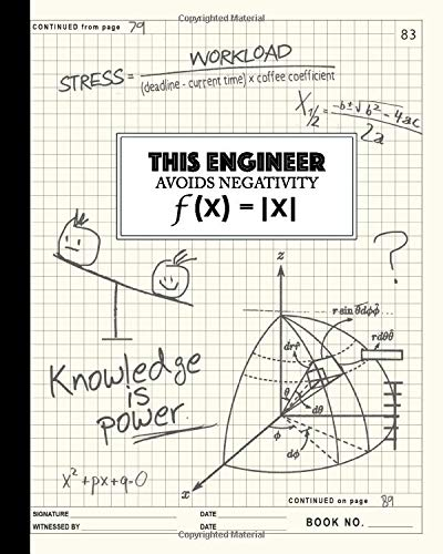 Engineering Notebook: Graph Paper Notebook Quadrille 4 X 4 Quad Ruled...