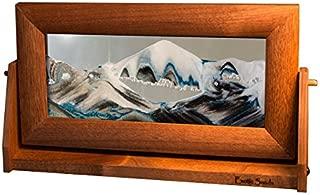 Exotic Sands Md14 USA Medium Alder Frame (Arctic Glacier) Moving Sand Pictures by William Tabar. Sand Art. Best