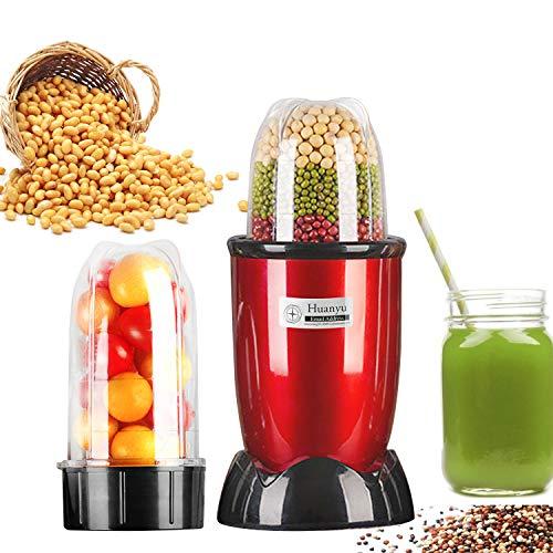 Huanyu Picadora de carne de grano 240ml Exprimidor de 500ml Exprimidor de polvo 29000r / min Pulverizador de molino múltiple para hierbas Especias Pimienta Grano de café Carne fruta