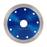 Dightyoho Hoja de Diamante de 115 mm Corte fino en húmedo profesional Corte en seco para gres porcelánico, granito, cerámica, cuarcita, mármol (115mm Azul)