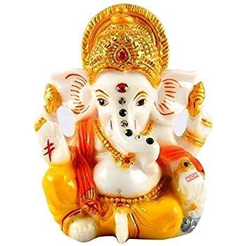 Aica Lord Ganesha Ganesh Ganpati Idol Hindu Figurine Showpiece (Style 1)