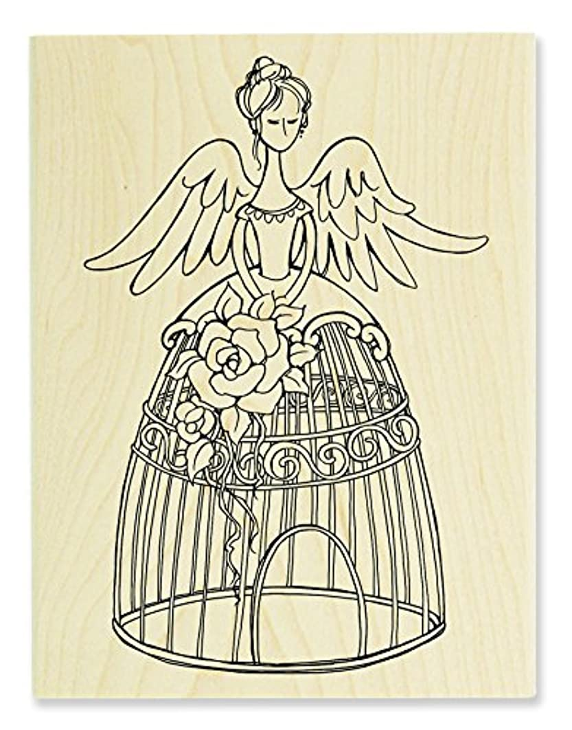 STAMPENDOUS Angel Aviary Wood Rubber Stamp