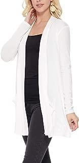 JNTOP Women's Open Front Drape Flowy Soft Long Jersey Cardigans
