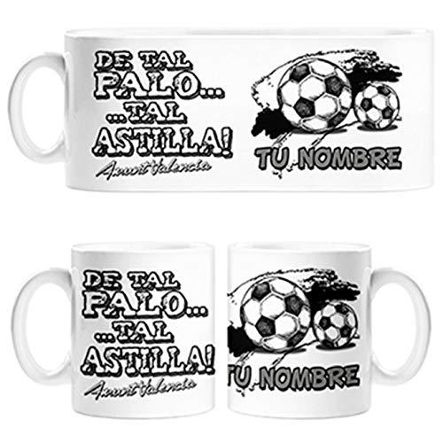 Diver Bebé Taza de Tal Palo Tal Astilla de Valencia para Aficionado al fútbol Personalizable con Nombre - Cerámica