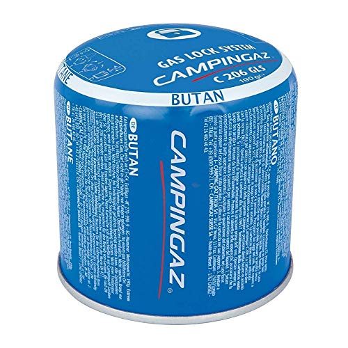 12 x 190g Campingaz C206 GLS Pierceable Cartridges - New With Gas Lock System by Campingaz