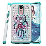 COTDINFOR LG Stylo 4 Hülle Bling Diamond Handyhülle Heavy Duty Protective Dual Layer Silicone Plastic Armor Shock Absorbing Etui für LG Q Stylus. 2 in 1- Dreamcatcher YB