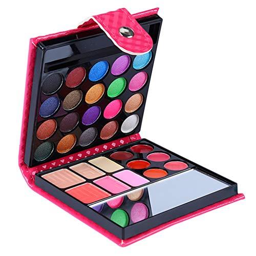 JasCherry 32 Farben Lidschatten Palette MakeUp Kit Makeup Kosmetik Etui Box mit Blush Rouge Gesicht Puder und Lipgloss für den Profi und Täglichen Gebrauch #1