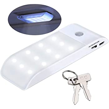 10L0L USB Rechargeable Motion Sensor Golf Cart Lights Magnetic Strip Wireless Safe Golf cart led Lights & Replacement Ignition Keys for DS(1982+)/EZGO 17063-G1/YamahaG14,G16,G19,G22,G29