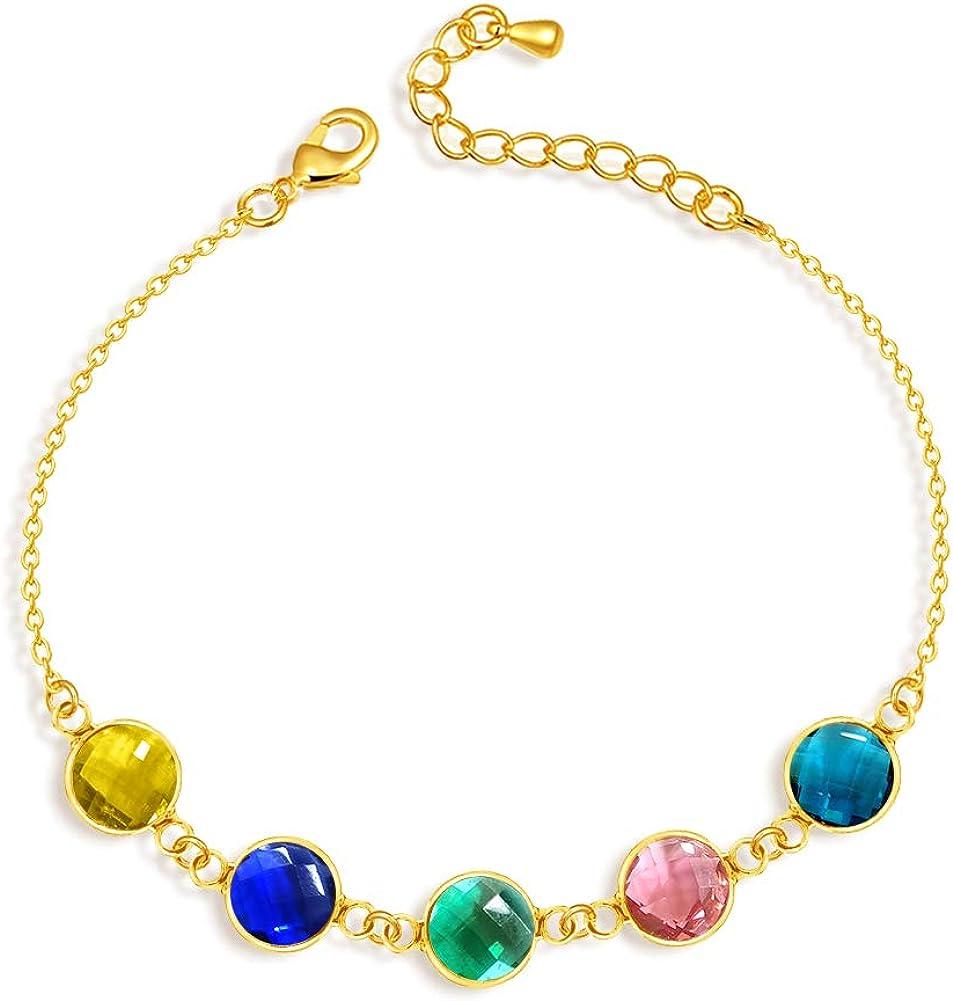 TinyName Personalized Bracelet with Fashion Bracel Friendship Direct store Birthstone