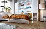 Schrankbett Bed Concept, Wandklappbett mit Lattenrost, V-Bett, Wandbett Bettschrank Schrank mit integriertem Klappbett Funktionsbett (BC-01, 140 x 200 cm, Weiß/Weiß, Vertical) - 2