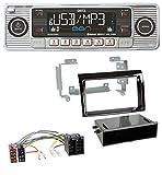 caraudio24 Dietz BOA Retro_200_BT Bluetooth USB SD MP3 CD Autoradio für FIAT Ducato (06-10) - Piano