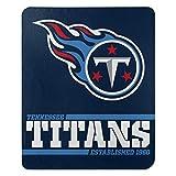 Northwest NFL Tennessee Titans 50x60 Fleece Split Wide DesignBlanket, Team Colors, One Size (1NFL031040016RET)