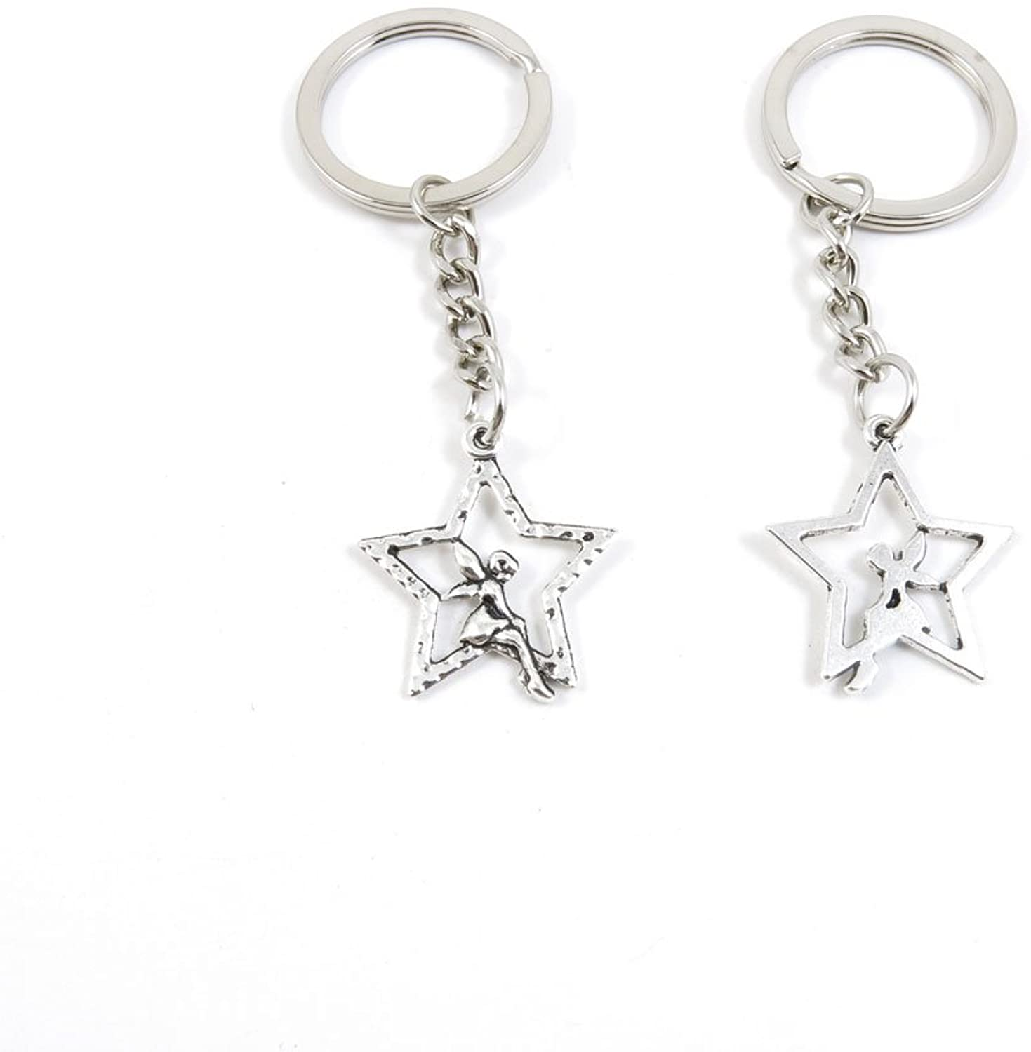 220 Pieces Fashion Jewelry Keyring Keychain Door Car Key Tag Ring Chain Supplier Supply Wholesale Bulk Lots N1YD2 Star Fairy