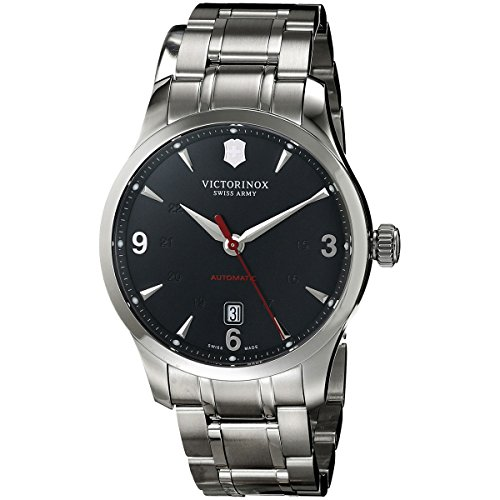Victorinox Swiss Army Herren Analog Automatik Uhr mit Edelstahl Armband 241669