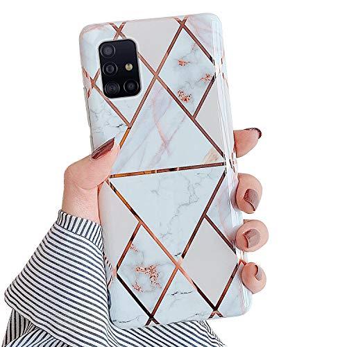 Kompatibel mit Samsung Galaxy A71 5G Hülle,Glänzend Bling Glitzer Marmor Design Muster Schutzhülle Ultra Dünn Weiches TPU Silikon Gel Bumper Handyhülle Hülle Case für Galaxy A71 5G,#3