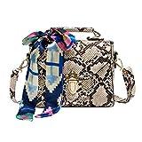 Animal Print Shoulder Handbags Women Leather Crossbody Bags (Snake Print)