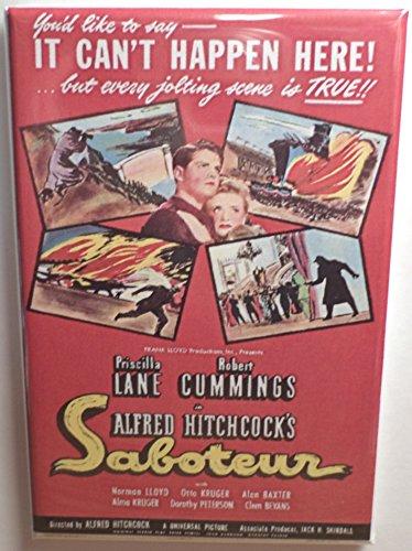 Saboteur Movie Poster MAGNET 2' x 3' Refrigerator Locker