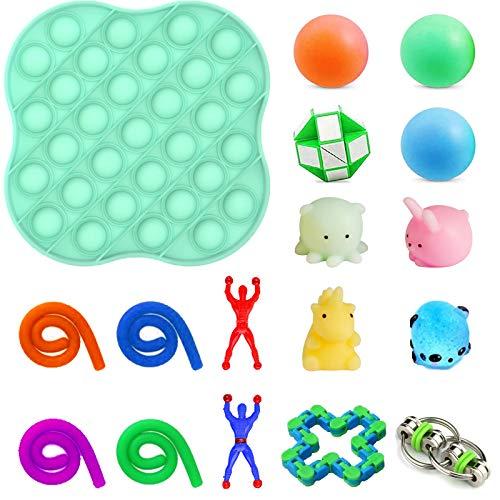 Fidget Toy Pack 17-teiliges Stressabbau-Kit und Anti-Angst-Fidget-Spielzeugset Fidget Pack Sensory Toys für autistische Kinder