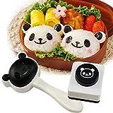 Velidy Bento Accessories - Molde para bolas de arroz, diseño de panda de dibujos animados, cortador de algas marinas Bento Nori, molde de arroz para niños, herramientas de cocina