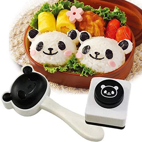 Velidy Bento Accesorios Molde bola arroz Cartoon Panda