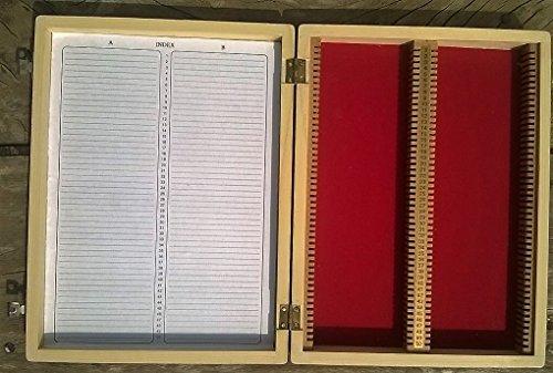 Holz Mikroskop Box 100Slide Aufbewahrungsbox Fall