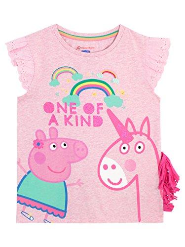 Peppa Pig Camiseta para Niñas Unicornio Rosa 6-7 Años