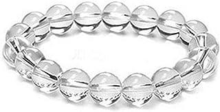 REBUY Clear Quartz Natural Gemstone Round Beads Stretch Bracelet Healing Reiki 8mm